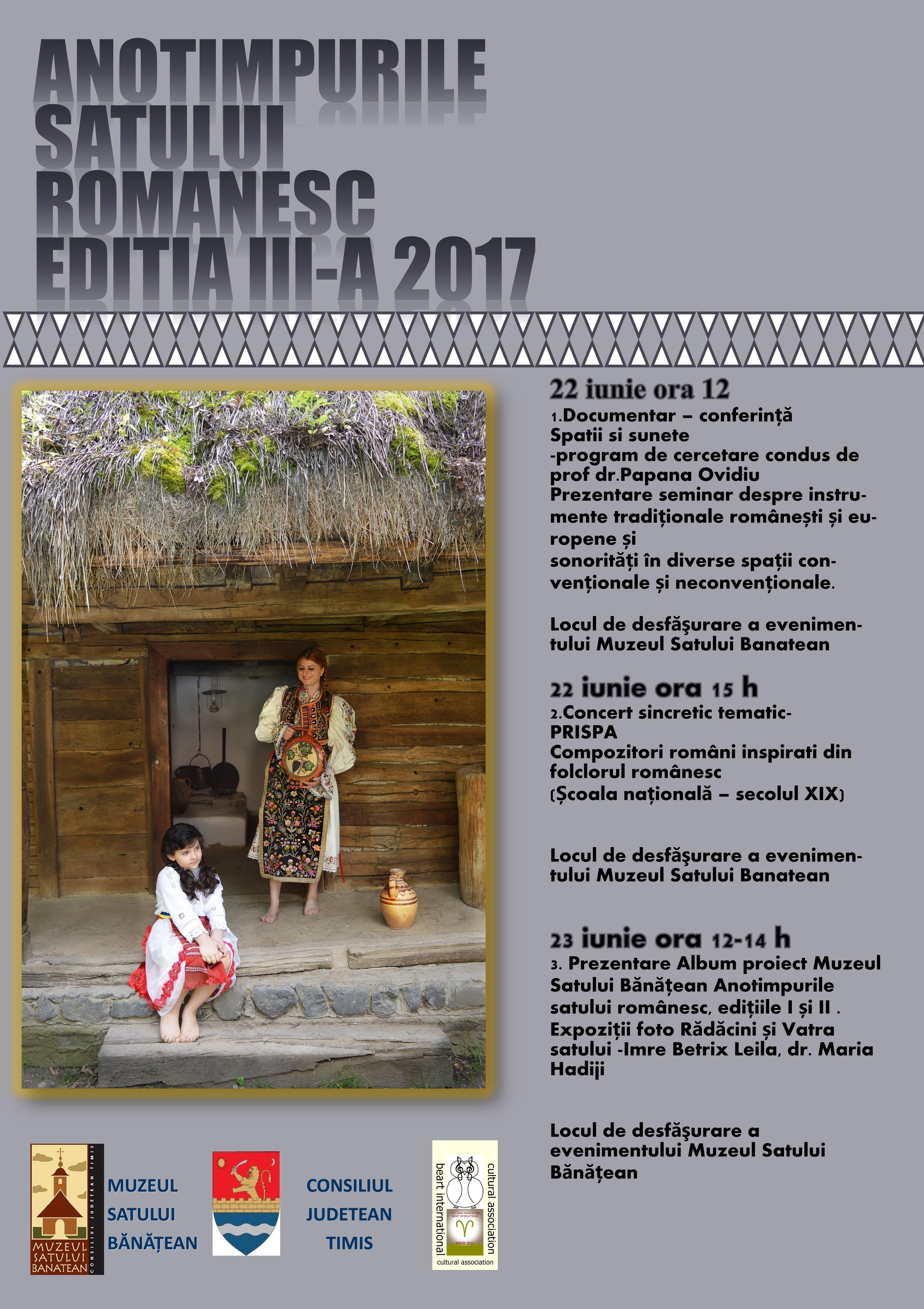 ANOTIMPURILE SATULUI ROMÂNESC – ediția a III-a – 22-23 iunie 2017